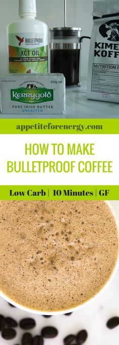 Bulletproof Coffee is the beverage of choice for Ketogenic Dieters and for people who want to hack their energy levels and lose weight. Created by Dave Asprey of the bulletproofexec.com, bulletproof coffee is an energy boosting drink that is full of good fats and has zero carbs. butter coffee |ketogenic diet coffee|low carb coffee| keto drinks| low carb drinks| weight loss coffee | intermittent fasting | bulletproof diet| MCT oil |gluten free |sugar free