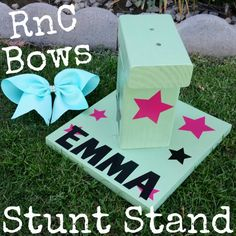 Cheer Stunt Stand Personalized by ribbonzncurlz on Etsy