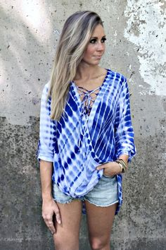 Dyed & Laced Top