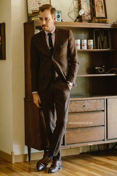 January 17, 2014. Suit: Herringbone Suit - Topman - $110 (70% off sale!!) (similar)Shirt:Zachary Oxford in Lavender- $45 -Frank & Oak...