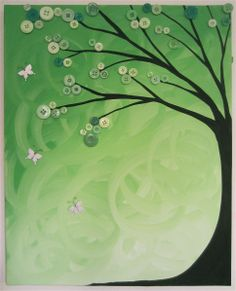 Green with white butterflies :)