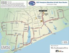 Course Map - Hamptons Marathon & Half