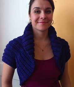 Fast and fashionable! This Retro Rogue shrug, designed by Anik St. Louis, would be quick to knit using a bulky or chunky weight yarn such as elann.com Peruvian Highland Bulky or Mirasol Kutama.