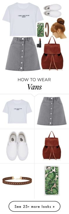"""""""Outfit Choice"""" by jjlexi on Polyvore featuring WithChic, Casetify, Miss Selfridge, Vans, Mansur Gavriel, Pin Show and NARS Cosmetics"""