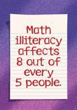 """Checkout the """"Math Illiteracy Affects 8 Out Of Every 5 People Argus Large Poster"""" product"""
