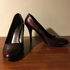Deep purple heels, size 8.5 Beautiful purple heels, size 8.5. No visible scratches or imperfections.  price is firm. Exchange by Charles David Shoes Heels