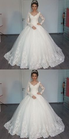 Wedding Dresses: New White/Ivory Lace Bridal Gown Wedding Dress Custom Size 4 6 . - Different thoughts and ideas Dream Wedding Dresses, Bridal Dresses, Wedding Gowns, Ivory Wedding, Lace Bridal, Lace Dress With Sleeves, Dress Lace, Wedding Attire, Beautiful Gowns