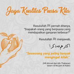 Ramadhan Quotes, Quotes Lucu, Doa Islam, Learn Islam, Islamic Pictures, Islamic Quotes, Ramadan, Quran, Allah