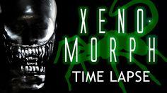 Alien Xenomorph Face Paint