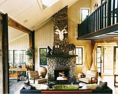 Masculine + rustic | Thom Filicia's summer home in Skaneateles New York