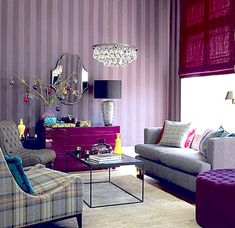 pink and purple Bedroom | Vivid Design: Top Color Trends for 2013