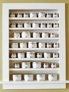 Modern Update: Brilliant Built-In          During the remodeling process, the homeowners created this built-in wall niche for their herbs and spices. Transferring herbs and spices from their original plastic containers into pretty, hand-labeled metal tins adds a vintage flair and keeps the niche from feeling cluttered or disorganized.