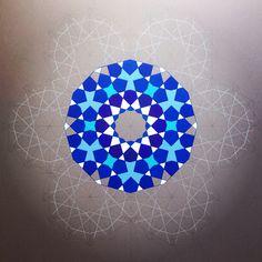 Artwork by Dana Awartani © Islamic art Islamic Art Pattern, Pattern Art, Pattern Design, Geometry Art, Sacred Geometry, Middle Eastern Art, Geometric Designs, Geometric Patterns, Art Techniques
