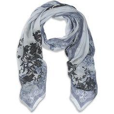 Valentino Lace Print Silk Scarf