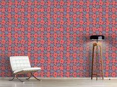 Design #Tapete Steinchen Blumen