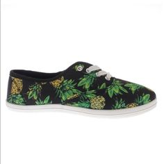 Pineapple Tennis Shoes Brand new slip on sneakers. Pineapple pattern. True to size Wild Diva Shoes Sneakers