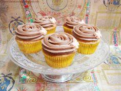 Cupcakes de vainilla y Nutella