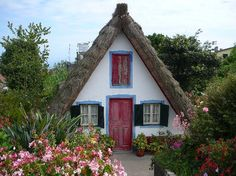 Cabins And Cottages: Madeira A frame house Little Cottages, Cabins And Cottages, Little Houses, Small Houses, Storybook Homes, Storybook Cottage, Cute Cottage, Cottage Style, Cottage Living