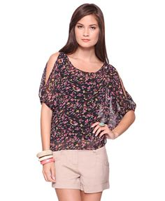 Floral Chiffon Shirt  $17.80