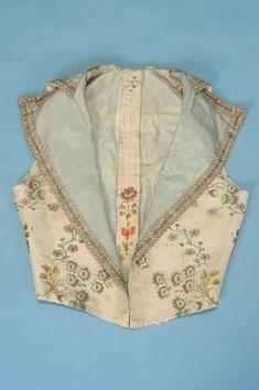 French Ladies Riding Waistcoat, c.1780-90. Trousseau - Fine Antique Fashion