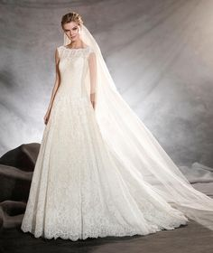 OLIVANA - Strapless wedding dress with A-line skirt