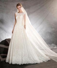 OLIVANA - Strapless wedding dress with A-line skirt