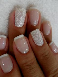 24 Delightfully Cool Ideas For Wedding Nails Elegant Nails elegant touch nails 3 minute manicure French Manicure Gel, French Manicure With A Twist, French Manicure Designs, French Tip Nails, Gel Manicure, French Manicures, Manicure Ideas, Natural Manicure, French Polish