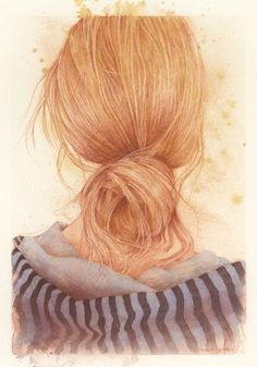 Illustration/Art from behind a blonde female from... 'duitang.com'★♡★