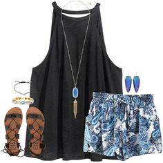A fashion look from June 2016 featuring H&M tops, Billabong sandals and Kendra Scott earrings. Browse and shop related looks.