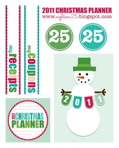 2011 DIY Christmas Planner