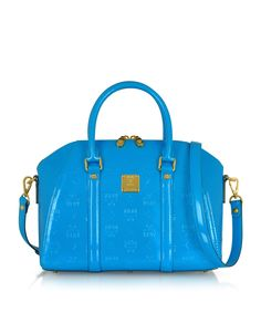a33f35fb0a MCM Ivana Patent Leather Bowler Bag