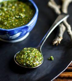 Quick and Easy Thai Basil Pesto [no fish sauce]
