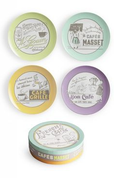 French Cafe Dessert Plates