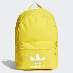 Adicolor Classic Backpack Yellow Mens adidas Made with recycled materials, this modern backpack has a refined shape. Inside, the large main compartment holds all the day's essentials. Outside, a contrasting white Trefoil adds undeniable adidas style. Adidas Backpack, Men's Backpack, Hiking Backpack, Backpacking For Beginners, Backpacking Tips, Girl Backpacks, School Backpacks, Modern Backpack, Yellow Backpack