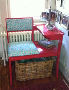 My Gossip bench re-do...the before was REALLY UGLY!