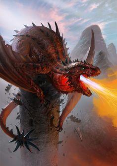 Red Dragon by Lothrean.deviantart.com on @deviantART