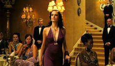 This dress is wonderful. Eva Green as Vesper Lynd in Casino Royale Casino Royale Theme, Casino Royale Dress, Purple Dress, Green Dress, James Bond Casino Royale, Cute Brunette, Girl Fashion, Fashion Outfits, Bond Girls