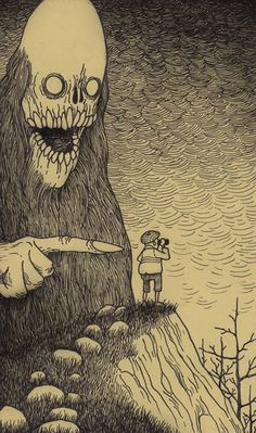 Had to chuckle at this Don Kenn art. Poor guy is going to get pushed!