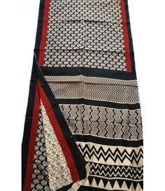 Multicolor Hand Block Print Cotton Saree