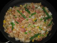 Japanese Shrimp and Bacon Fried Rice