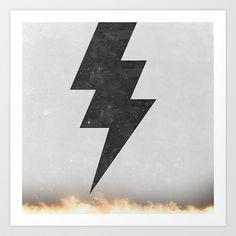 lightning strike Art Print by Vin Zzep - $19.00