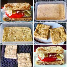 ¡Pan fitness casero! ¿Amas el pan, pero deseas cuidar tu alimentación y dejar las harinas refinadas? ¡Entonces esta es una buena alternativa para ti! Es muy fácil de hacer. ¡No te tomará más de 10 minutos!  Ingredientes: - 2 cucharadas colmadas de harina de avena (avena molida en la licuadora). - 1 huevo entero + 1 clara. - 2 rebanadas de queso fresco o quesillo 0% materia grasa. - 6 cucharadas de leche descremada o leche vegetal. - 1 cucharadita de polvos de hornear. - Sal sin sodio o baja…