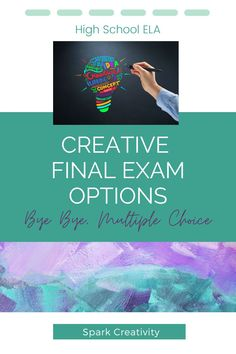 Want a creative final exam for your high school ELA students? Something that skips the multiple choice in favor of more critical thinking and creativity? Check out these five creative final exam options. #englishteacherideas #secondarlyela Final Exams, Multiple Choice, Teaching Strategies, Critical Thinking, Lesson Plans, Curriculum, Finals, High School, Creativity