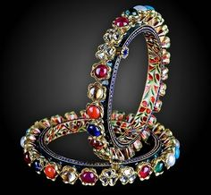 silver bracelets for women at our Online Shop Mughal Jewelry, India Jewelry, Antique Jewelry, Silver Jewelry, Fine Jewelry, Jewelry Shop, Silver Ring, Gold Bangles, Silver Bracelets