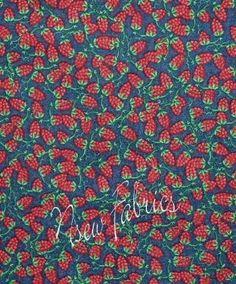 Red RASPBERRY Cotton Fabric Raspberries Berries by NsewFabrics, $7.99