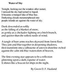 """Water of Sky"" by Gwen Haaland"