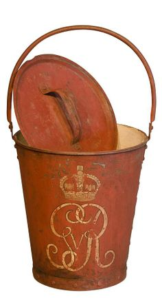 Georgian Fire Bucket -- I love this.  After what the FDNY had to do with 9.11  Georgian England only had this.  Thank you Anne Brockett   :)