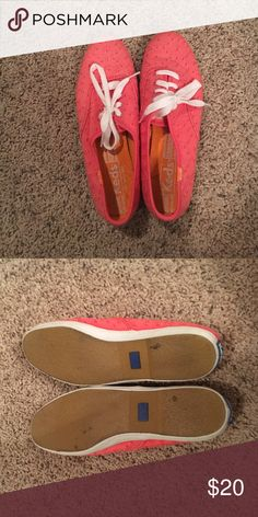 Coral KEDS Coral eyelet style keds Keds Shoes Sneakers