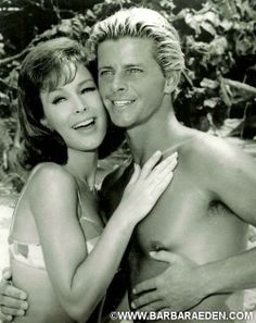 """Barbara and Peter Brown in """"Ride the Wild Surf."""""""