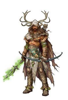 Ranger Forest Guardian - Pathfinder PFRPG DND D&D d20 fantasy